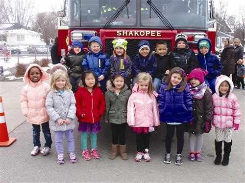 Firetruck visit in the spring