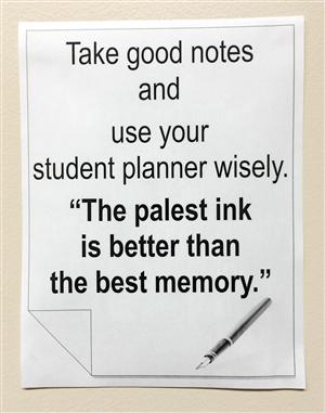 Planner and notes