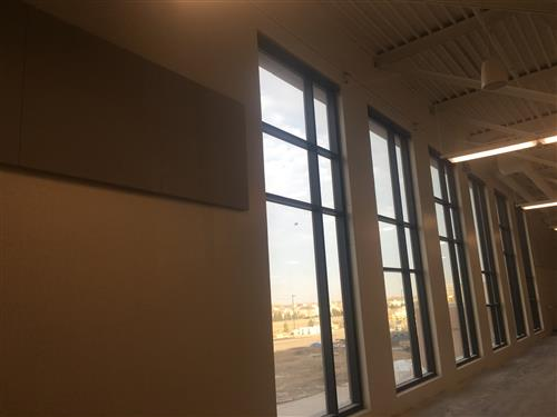 Windows in fieldhouse
