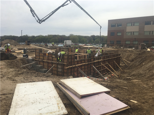 Footings for New Auditorium