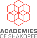 Academies of Shakopee Logo Red Stacked