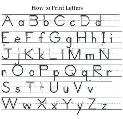 How to write a letter and then print it